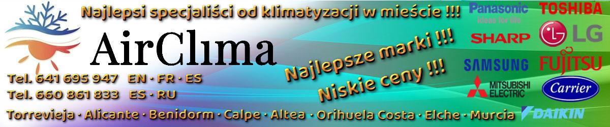 Reklama baner środek AirClima